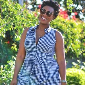 Collared gingham dress
